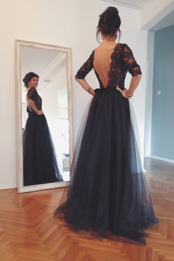 Black Backless Prom Dresses Tumblr