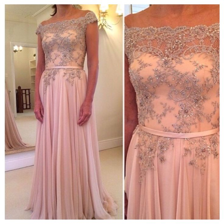 fd90498f9d7 Pearl Pink Long Prom Dresses With Beaded Off Shoulder Evening Dress,Charming  High Quality Cheap