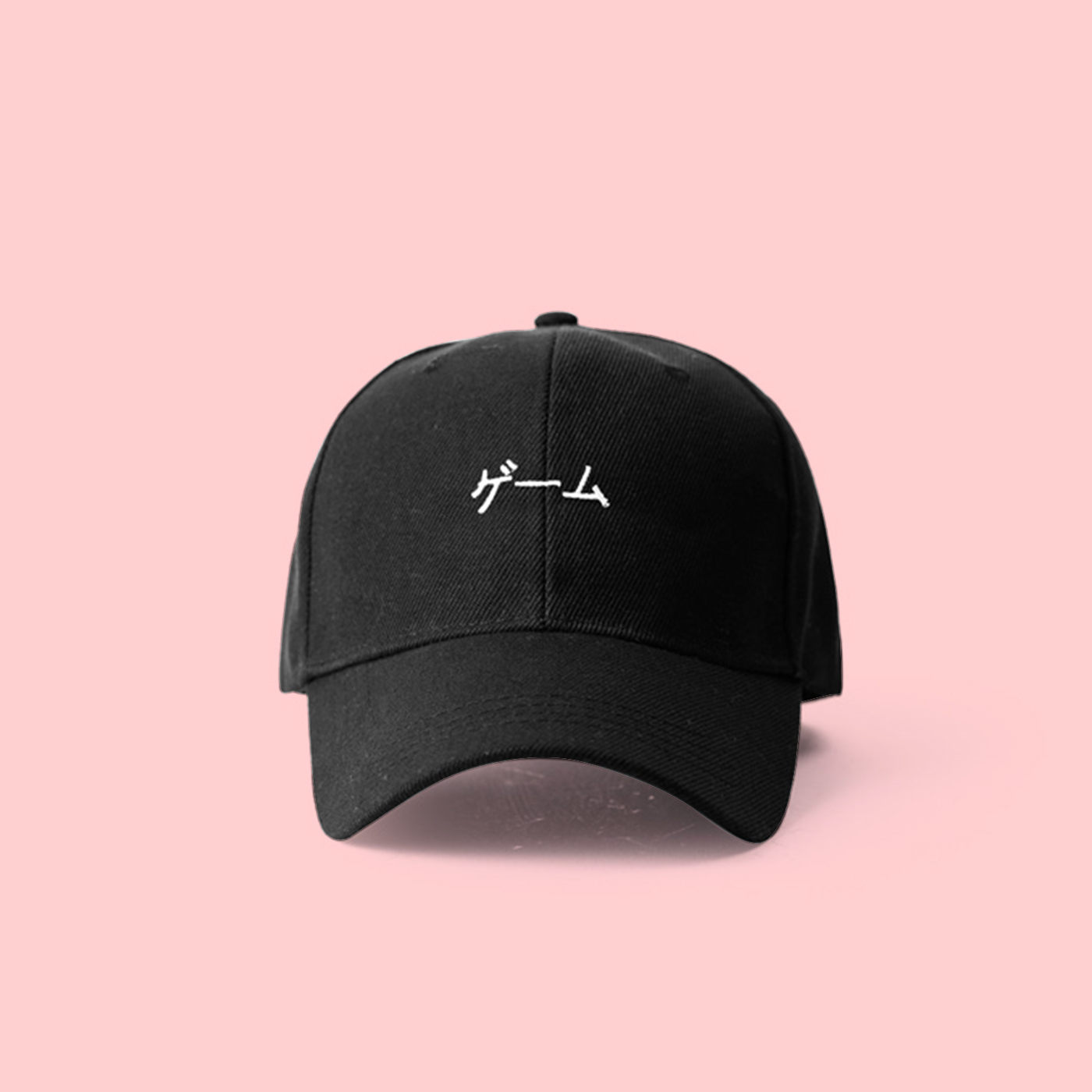 f1043e871a6 UNISEX STREETGOTH JAPANESE WORDING BASEBALL CAP IN BLACK · soldrelax ...