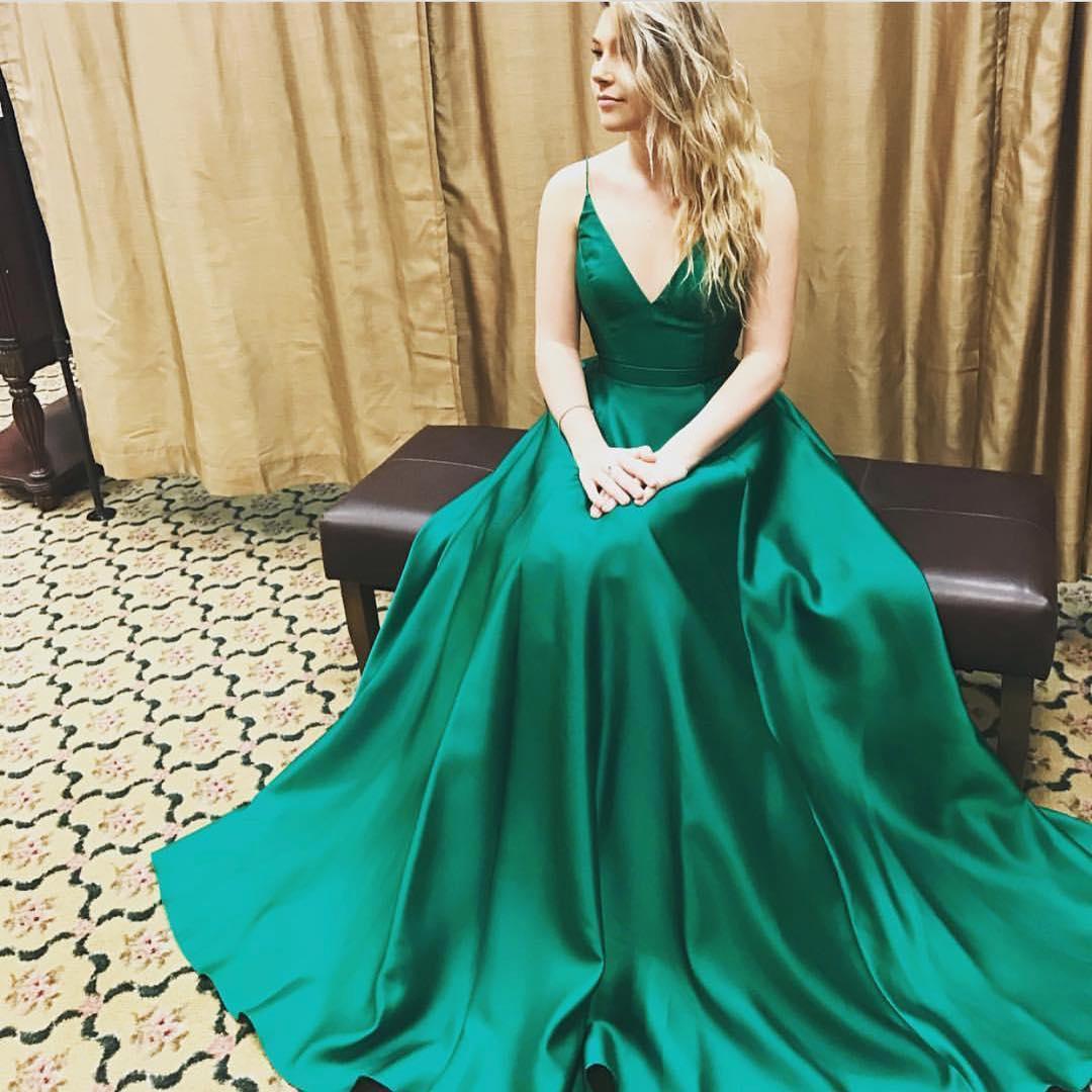 761bc3b202678 V-Neck Dark Green Charming prom dress, sexy prom dress,Charming prom dress,  long prom dress,prom dresses, elegant prom dress, prom dress Z34 on Storenvy
