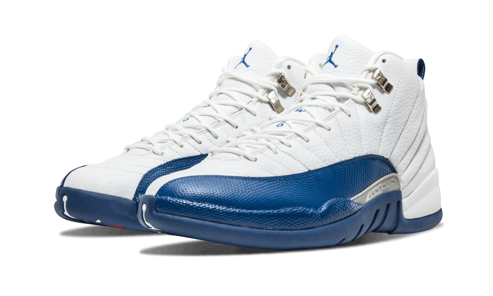 "fd5bcee77dc0 Air Jordan 12 ""French Blue"" Color  White French Blue Metallic Silver ..."
