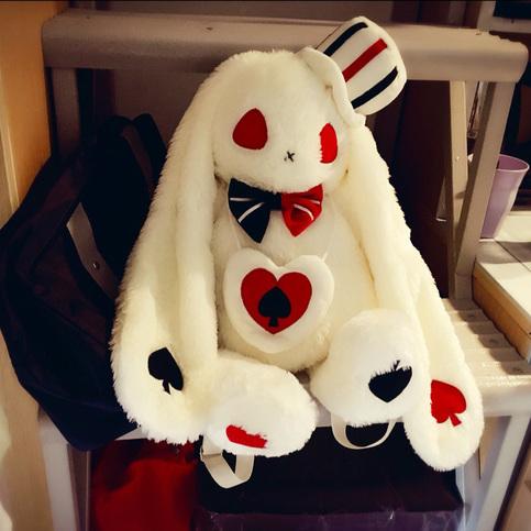 Lolita Gothic Bunny Hat Plush Bag Black Red On Storenvy