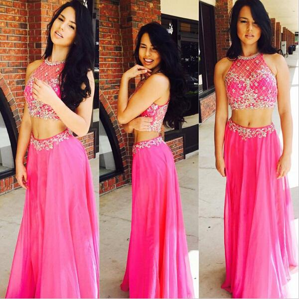 fa72bde00c 2 Pieces Party Dresses,Chiffon Evening Gowns,Glitter Formal Dress,Sparkly  Evening Gowns For Teens
