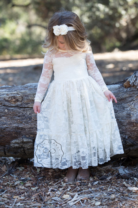 Lace girl dress flower girl dress flower girl lace dresses long il 570xn907264572 m1xv original mightylinksfo