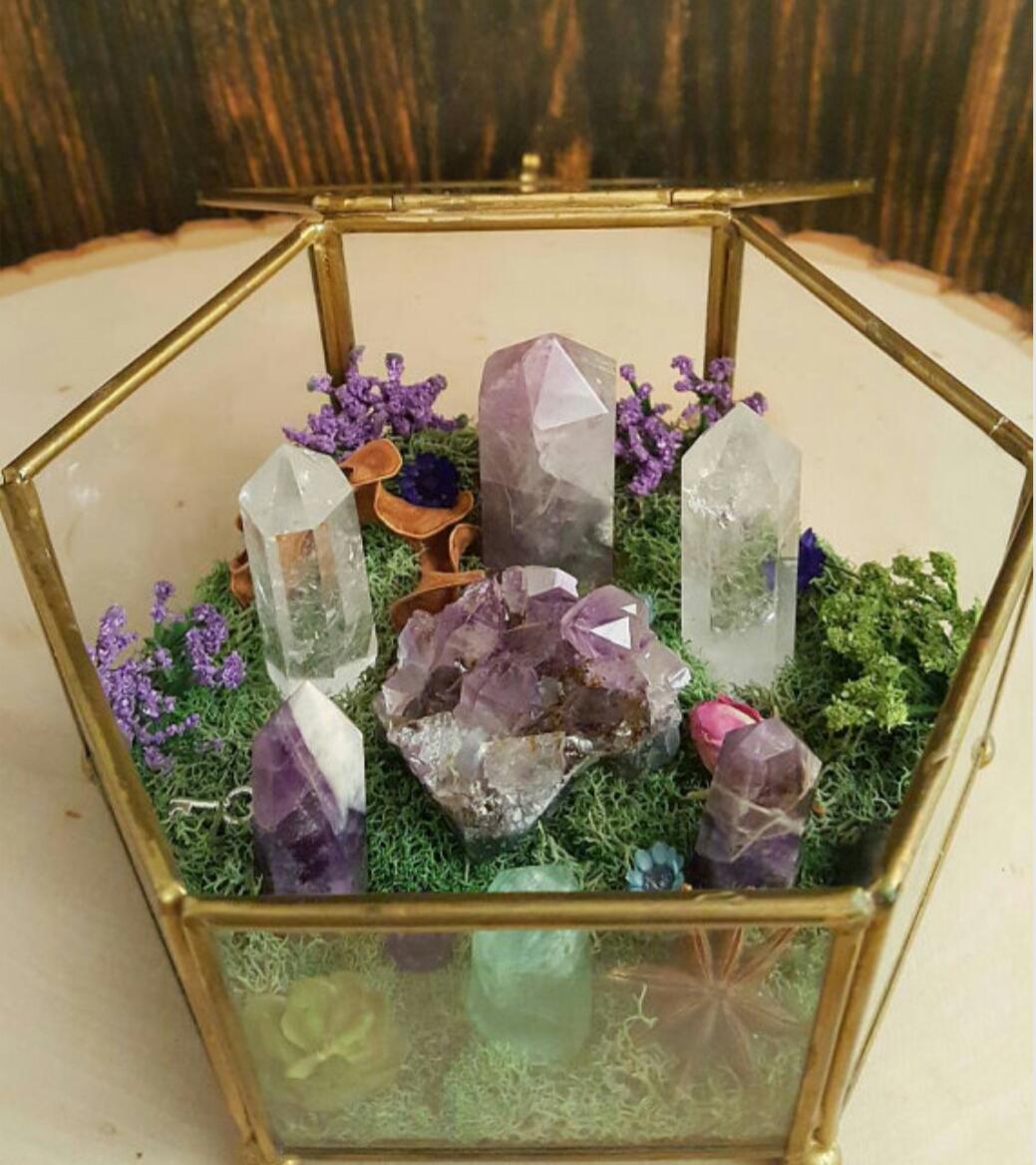 Crystal Garden Terrarium Sold By Wild Witch Crystals On Storenvy