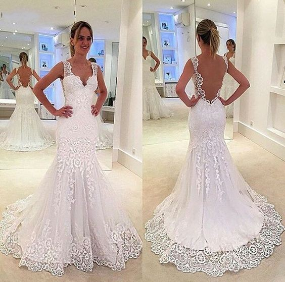 Sexy Open Back Wedding Dresses