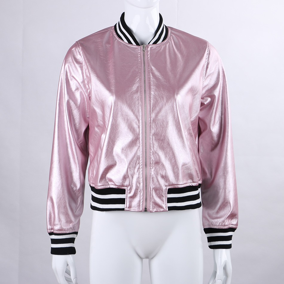 XS S M L pastel pink black kawaii sports letterman varsity jacket ...