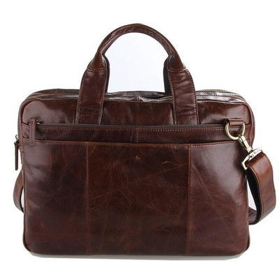 9f7d06651 Handmade vintage leather briefcase / leather messenger bag / 13