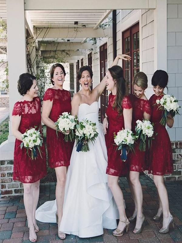 b843770c3ce Short Bridesmaid Dress