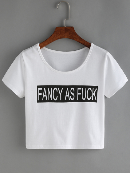 be6854fbad7 Fancy as F ck Crop Top · BougieBuys · Online Store Powered by Storenvy