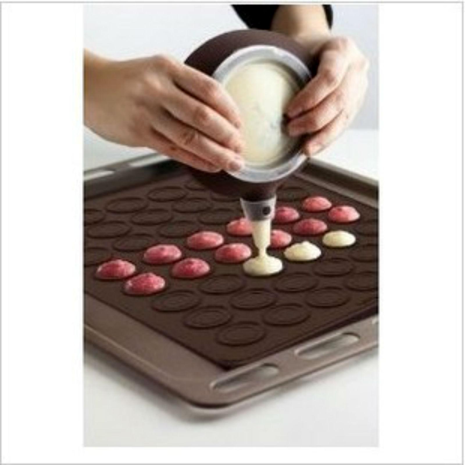 Image of 39.5x30cm Macaroon Silicone Baking Mat Decoration Pen Set Bakery Use Utensil