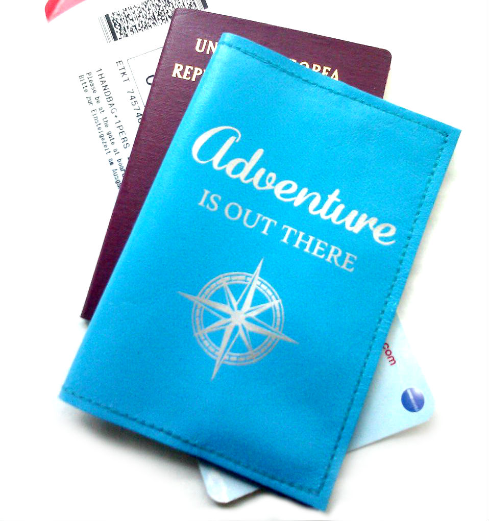 adventure is out there leather passport cover on storenvy