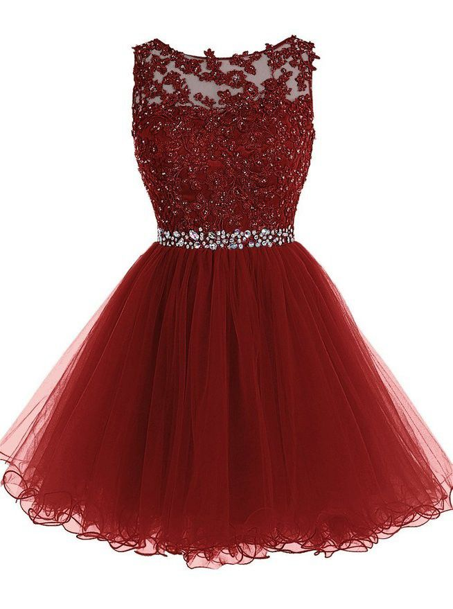 5c20db5d284 Cute maroon lace short prom dress