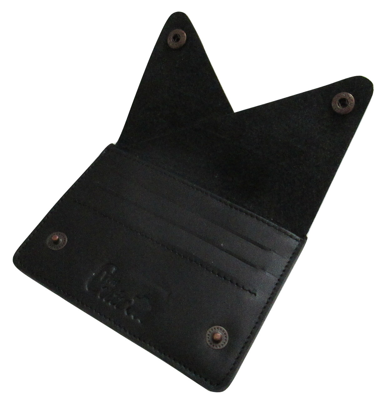 Image of 100% Genuine Leather Snap Close Wallet