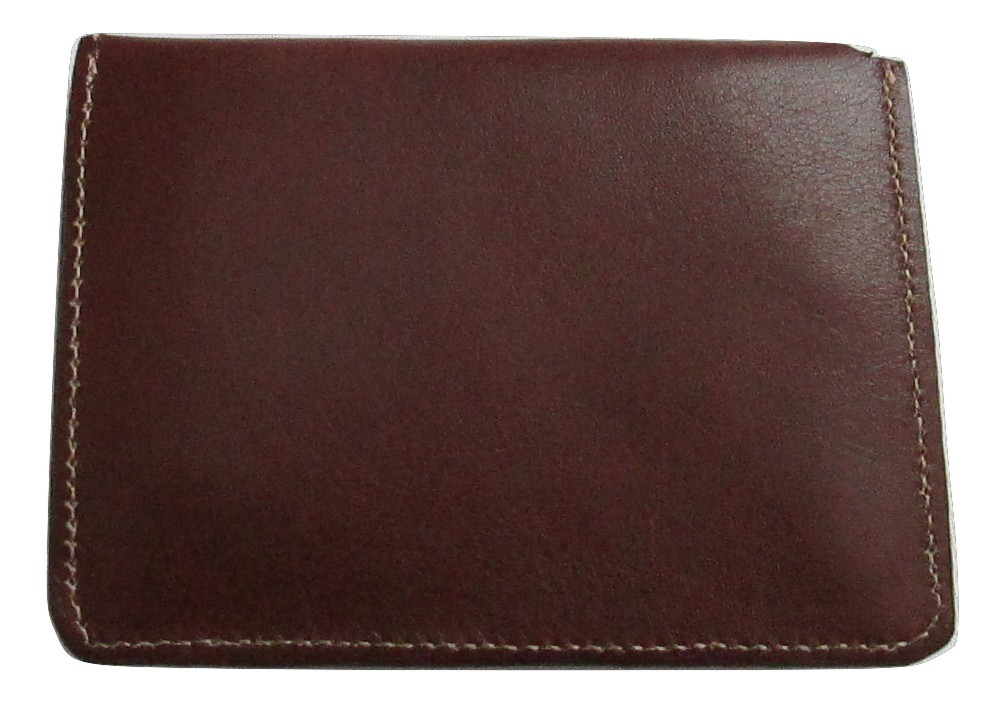 Image of 100% Genuine Brown Leather Men's Snap Close Wallet