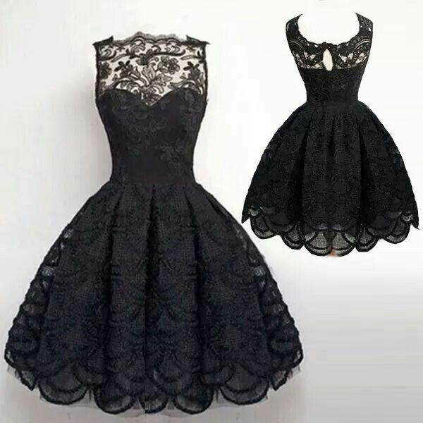 Black Evening Short Dresses