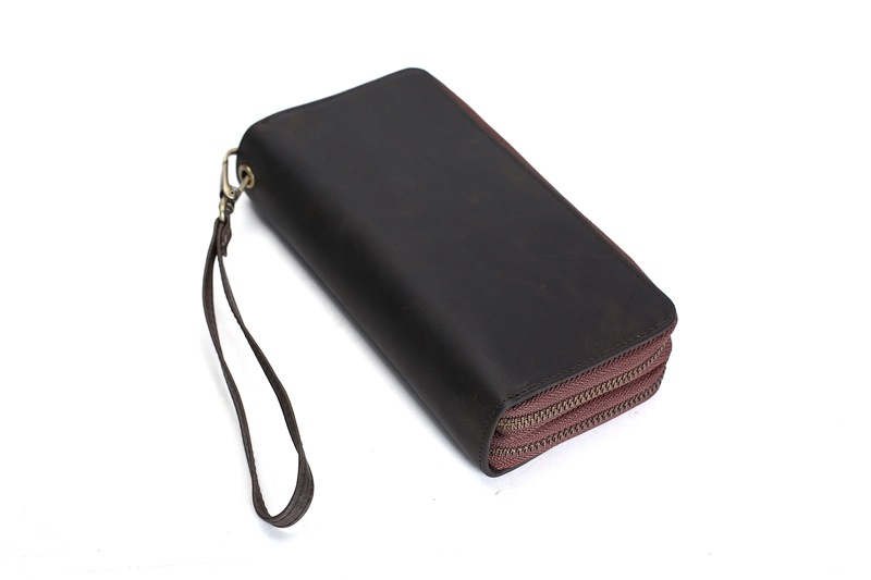 Handmade Vintage Leather Wallet/Long Purse/ iPhone Wallet/ Card Holder 4009 (56671588) photo