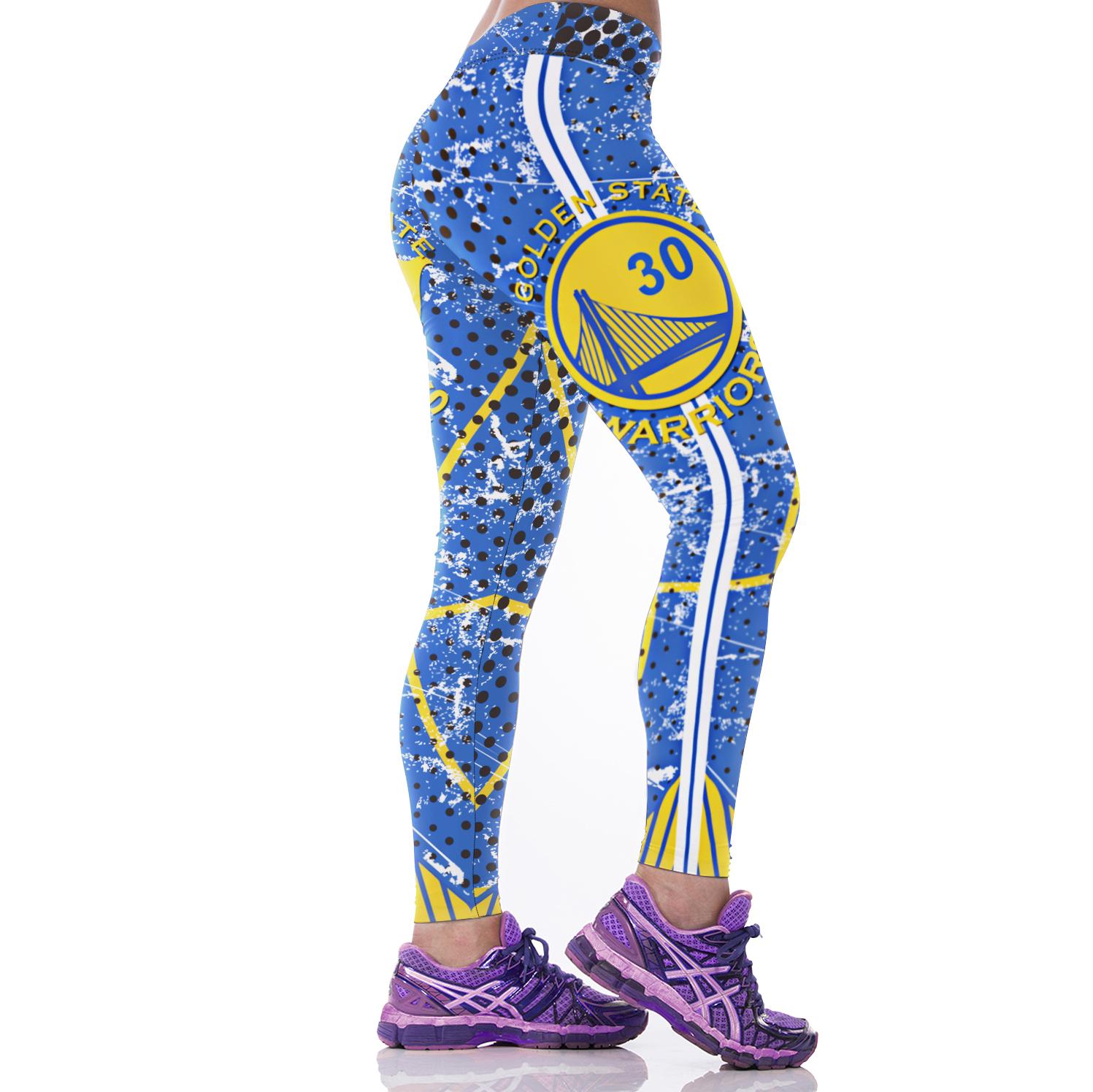 62050163 ... New Golden State Warriors NBA Women Leggings Fitness Sports Gym -  Thumbnail ...