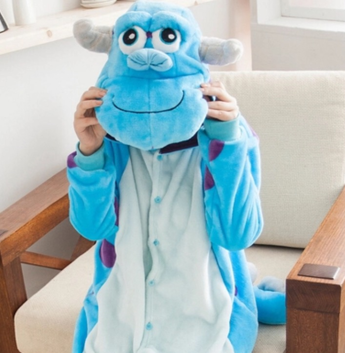 Img 9619 original & Adult Monsters Inc. Sully Blue Onesie Lounger - S M L XL ...
