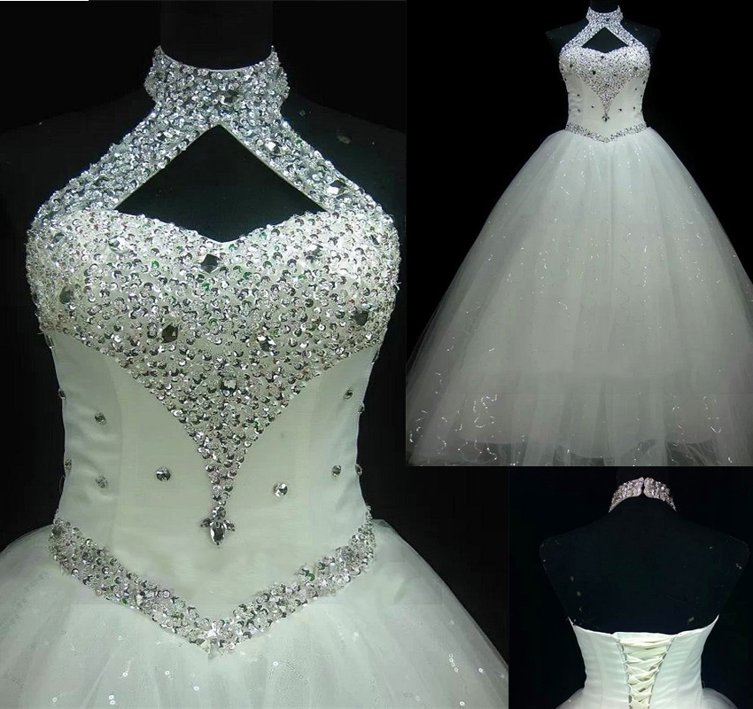 WD41 Ball Gown Beading Plus Size Wedding Dresses,Wedding Dress,Custom Made  Wedding Gown, sold by Wisdom Dress