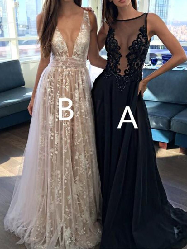 670826d3bc Long Prom Dress, Deep V-Neck Prom Dress, Sexy Prom Dress, Prom Dress ...