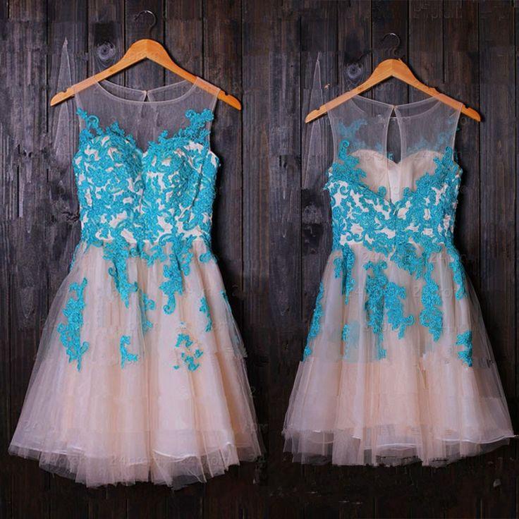 pretty lace mini homecoming dressesshort prom dressescap