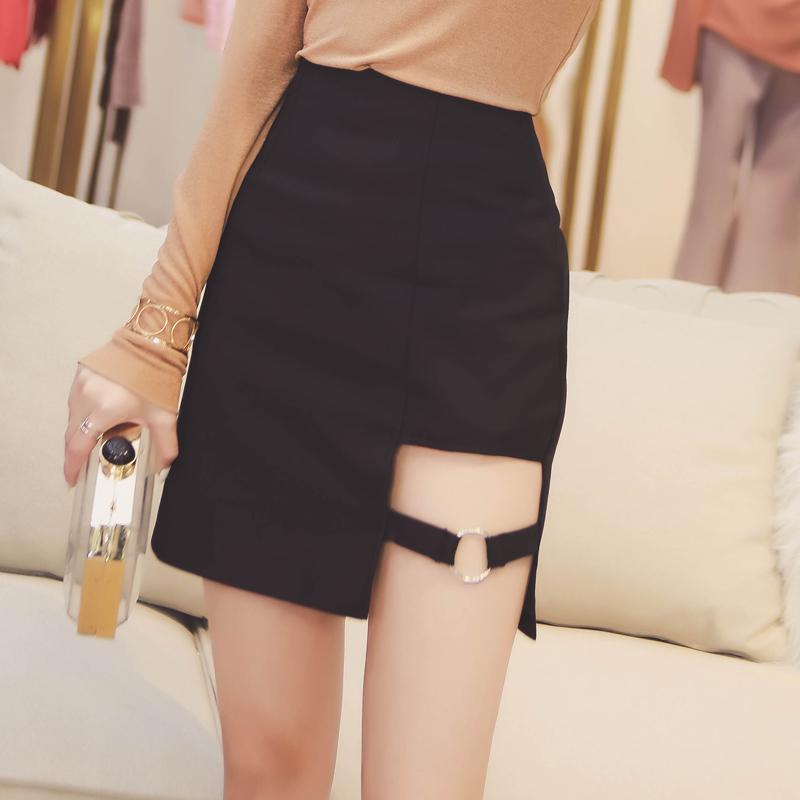c67395c88e2 Harajuku Black Asymmetric A-Line Skirt Korean Fashion DC144 · The ...
