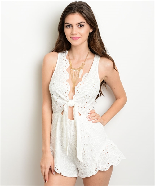 Image of IVORY ROMPER