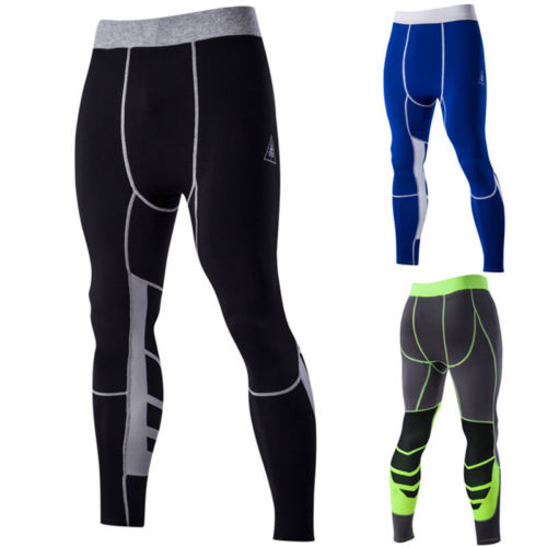 Fashion Mens Compression Base Layer Running Gym Stretch Tights Pants Sport Wear