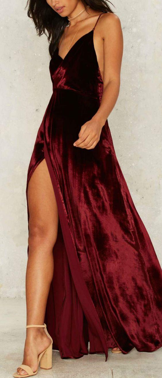 Sexy Spaghetti Prom Dress Open Back Red Prom Dress V Neck Backless