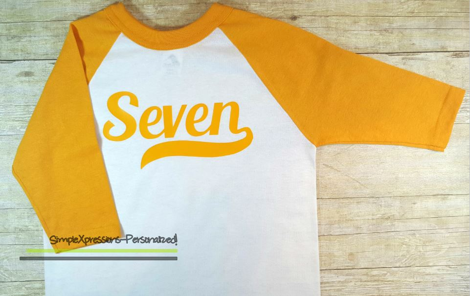 Youth Birthday Shirt Raglan