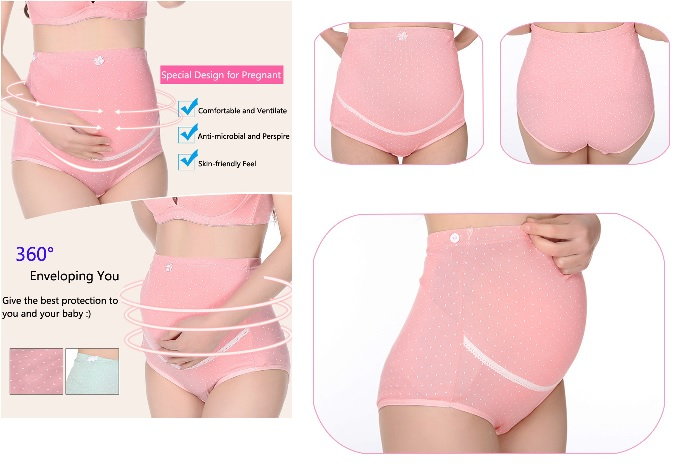 13949608dff Dokis Pregnant Women Cotton Hold Abdominal High Waist Adjustable Underwear  - Thumbnail 1 ...