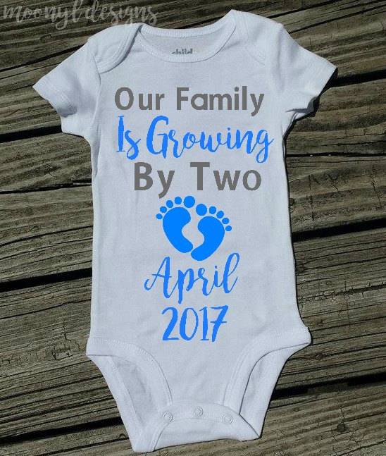 0f7aa5420 Pregnancy Announcement Onesie, Our Family is Growing, Baby ...