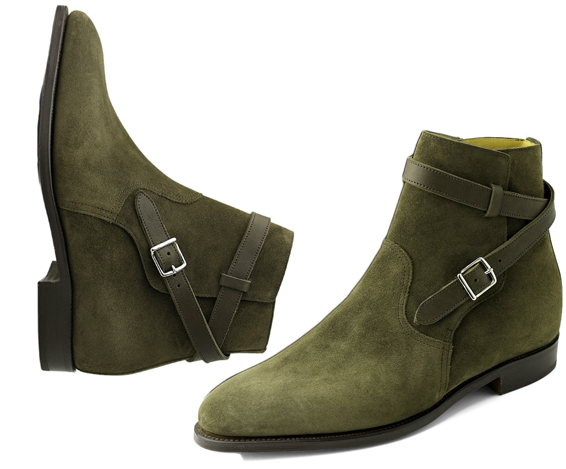 New Men's Handmade Jodhpurs Suede Boots, Ankle Boots Formal Boots
