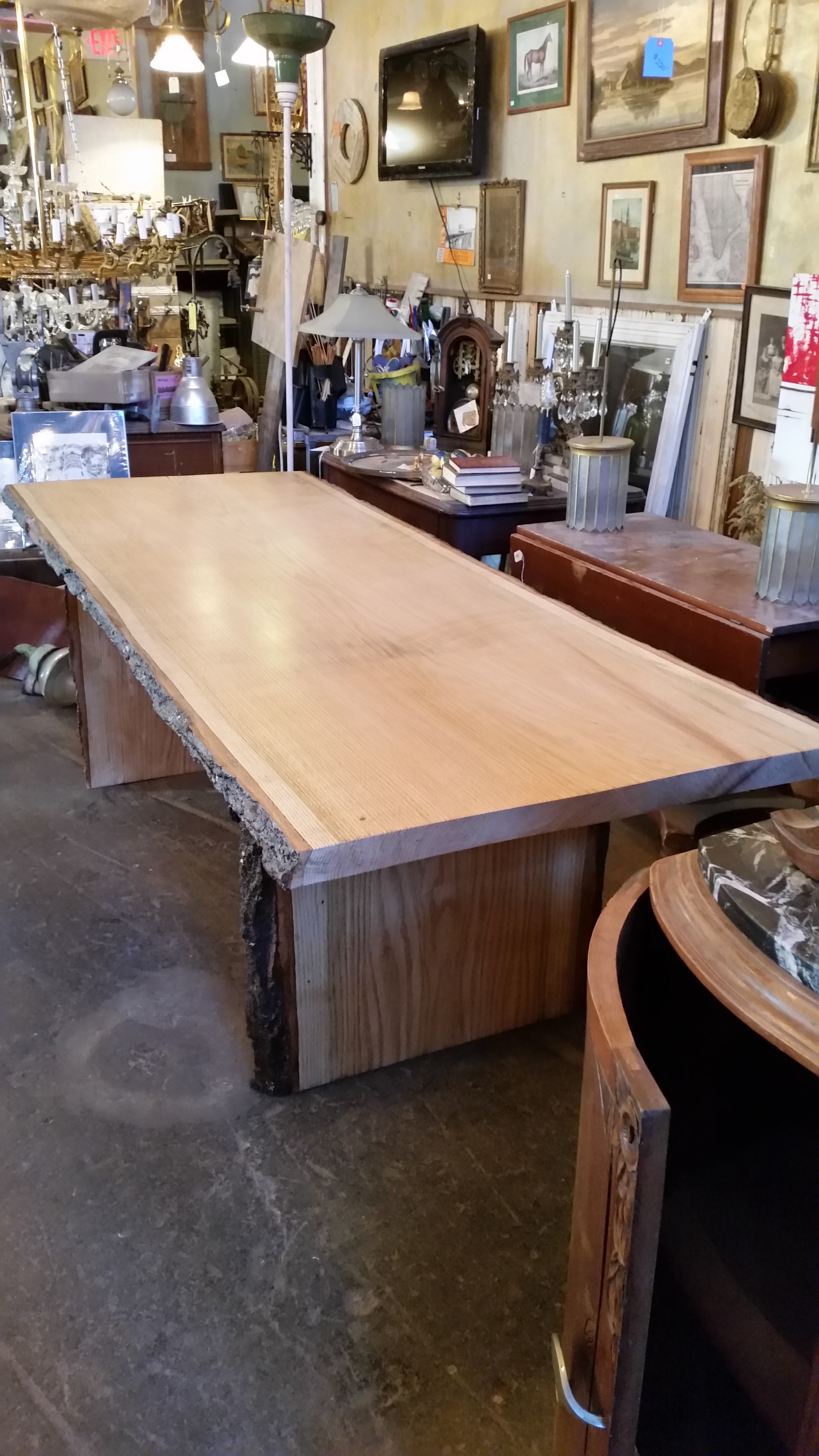 Swell Live Edge Red Oak Dinning Table 8Ft From Waters Woods Creations Download Free Architecture Designs Licukmadebymaigaardcom