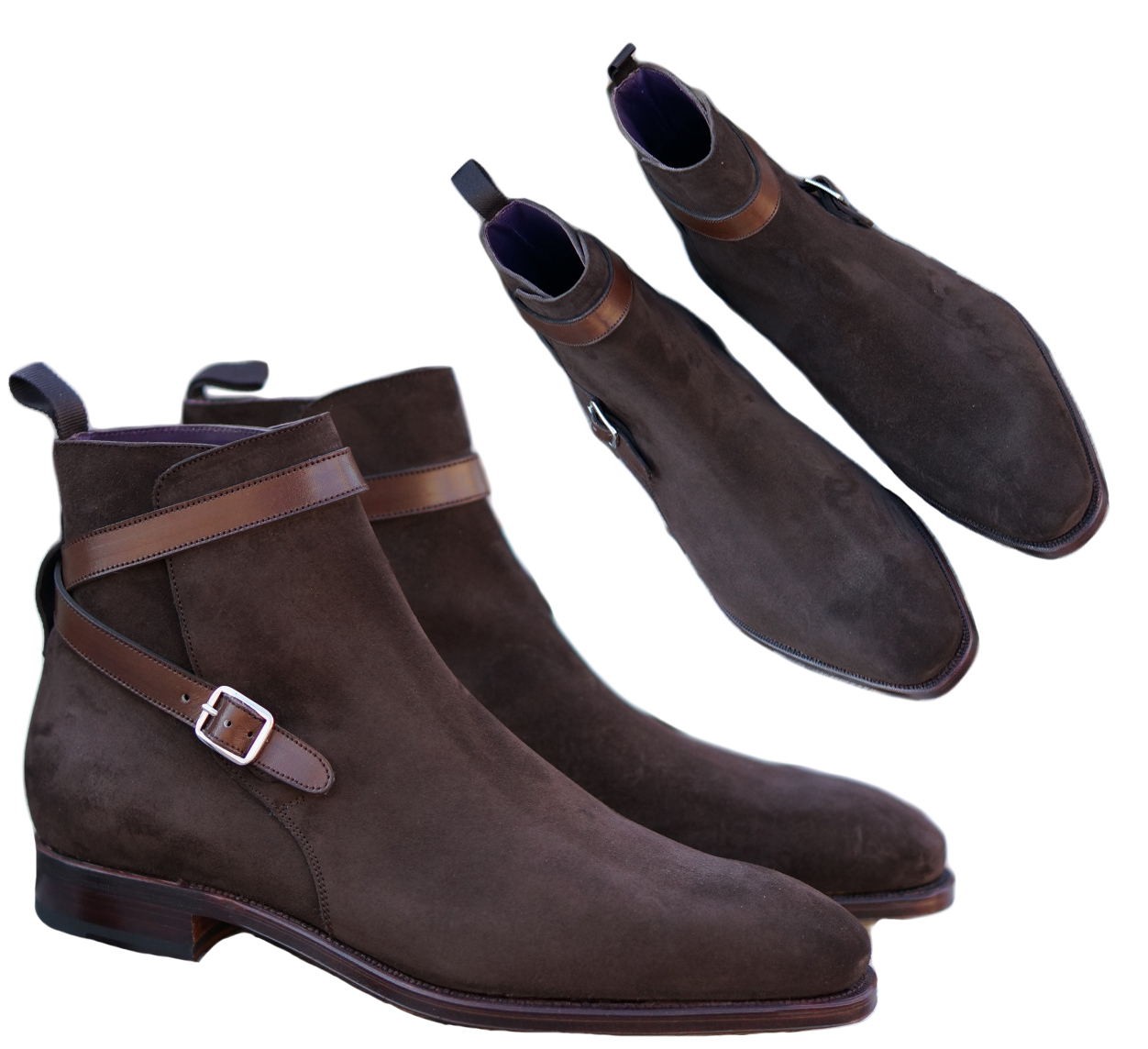 New Jodhpurs Brown Ankle Suede Boots, Ankle Boots Formal Party Leather Sole