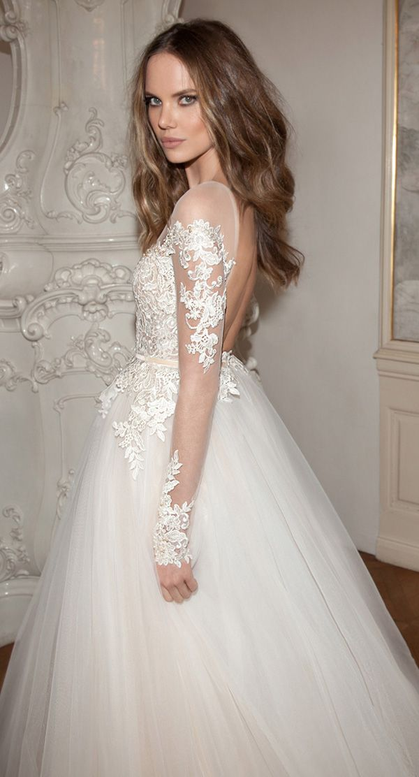 new fashion bridal dress with lace appliqued backless design on Storenvy