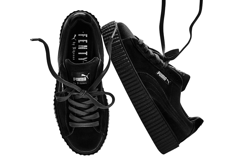 5262ed99438 ... Fashion Shoes by Rihanna Women s black Creeper Casual sneaker - Thumbnail  4