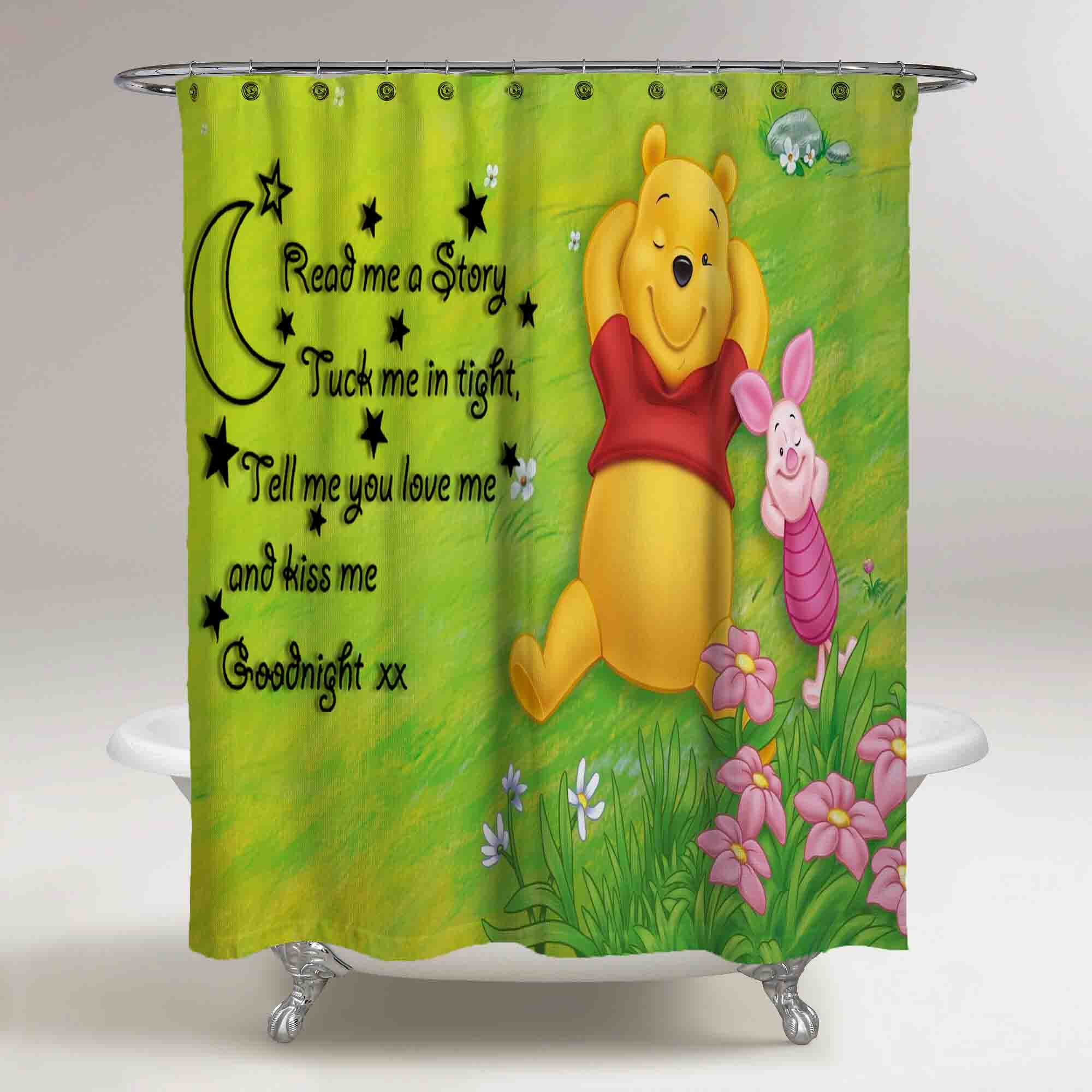 Disney Winnie The Pooh Sleep Custom Design Shower Curtain Print On Sold By Ooreedoo