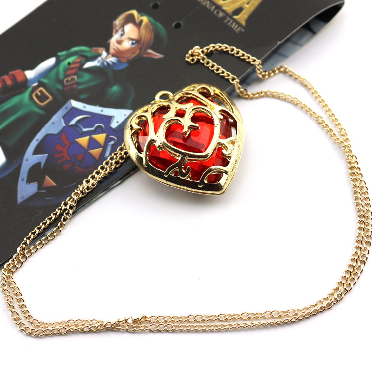 The Legend of Zelda: Ocarina of Time Heart Pendent Necklace from Grandhoo