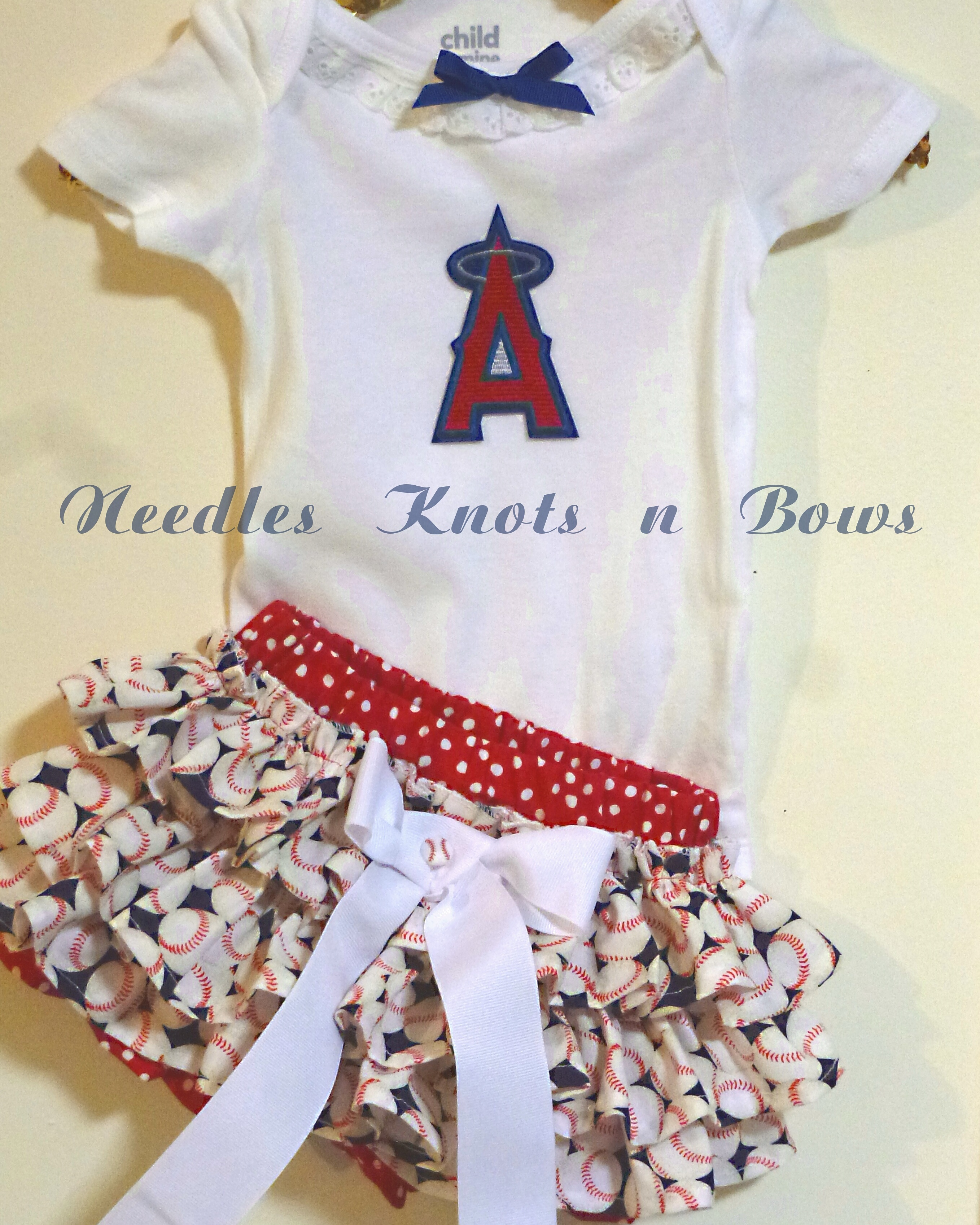 Girls LA Angels of Anaheim Game Day Outfit 39e547a82