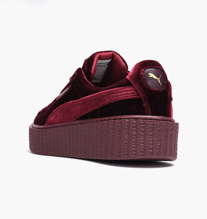 san francisco b1ddc 72607 Fashion Shoes by Rihanna Women's Velvet Burgundy Creeper Casual sneaker  from BELLDRESS