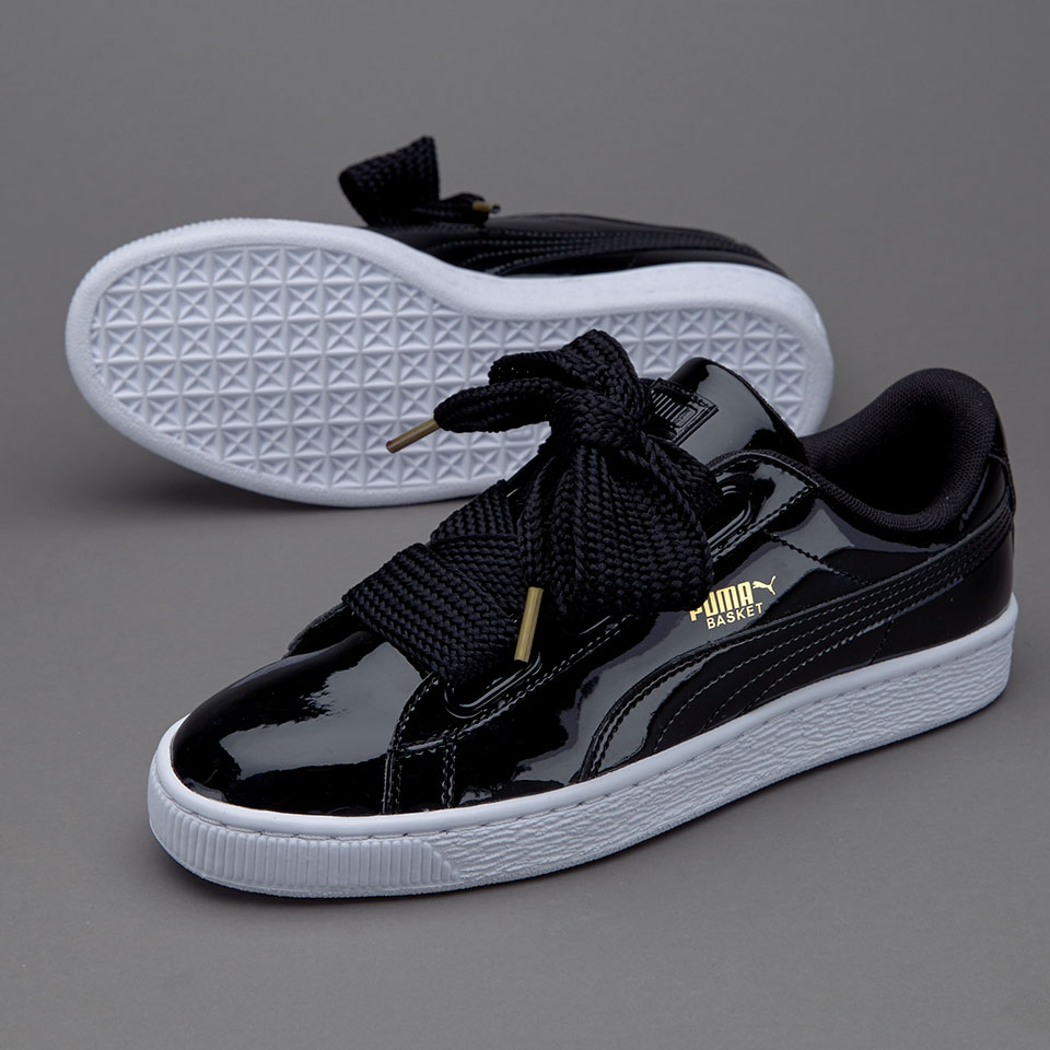 Fashion Suede Basket Heart Patent women's Skate shoes Casual sneaker black sold by supplier