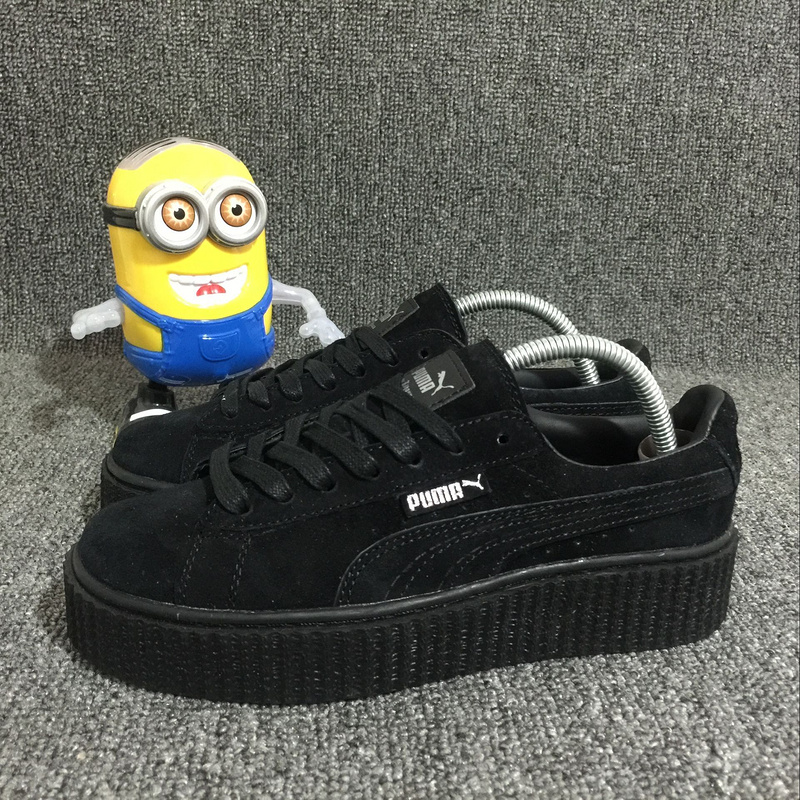 official photos d6cf3 57b58 Fashion Fenty x Rihanna Suede Creepers women's/men's Turnover shoes Casual  sneaker All black sold by supplier