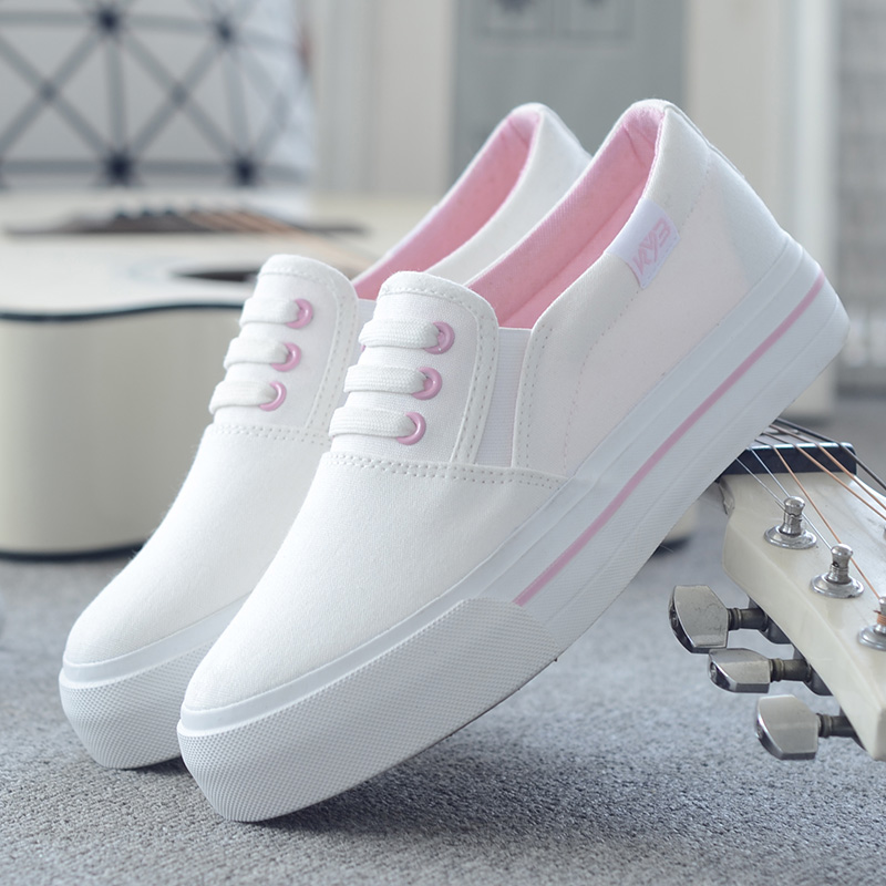 Casual Solid Canvas Flats Simple Preppy Trendy Sneaker MG414 · Mori ...