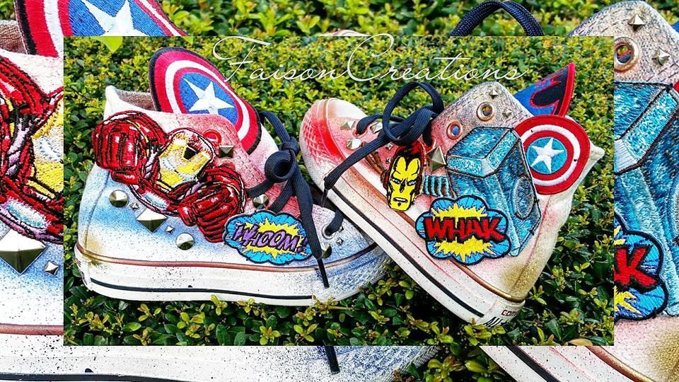custom marvel converse