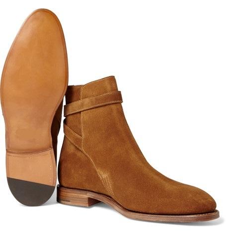 Handmade Tan Brown color Jodhpur suede leather boots, Men ankle boots, Tan Brown color boots