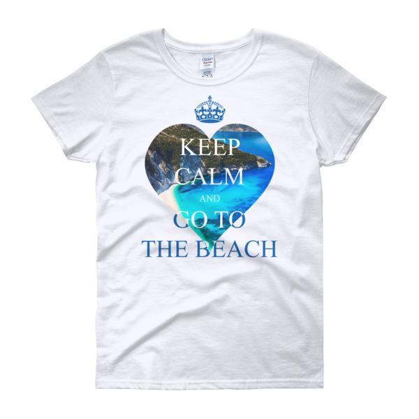 f2cc8ecb Keep Calm And Go To Beach - Women's short sleeve t-shirt on Storenvy