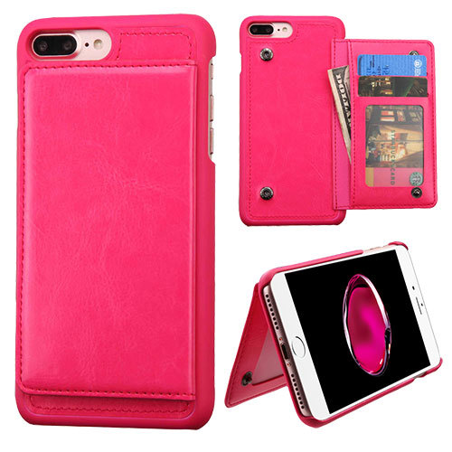 huge discount 1b51f 8a58c Apple iPhone 7 Plus 5.5 inch Hard Cover and Silicone Protective Case -  Hybrid Hot Pink/ Hot Pink Flip Wallet With Stand ( Snap Fasteners ) from  Qwest ...