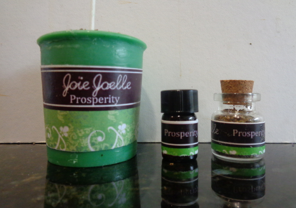 Mini Prosperity Green Votive Spell Candle Kit, for attracting wealth,  prosperity, abundance, good luck, good fortune from Joie Joelle Creations